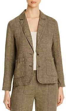 Eileen Fisher Petites Organic Linen Two-Button Blazer