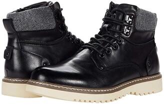 Steve Madden Delwar Lace-Up Boot (Black) Men's Shoes