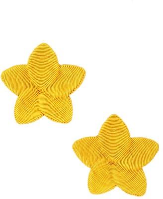 Rebecca De Ravenel Frangipani Floral Clip-On Earrings