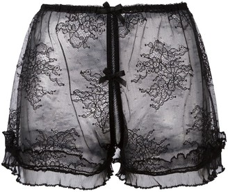 Folies By Renaud Ouvert French lace knickers
