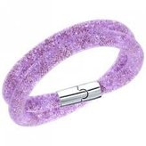 Swarovski Stardust 5140103 Purple Crystals double wrap Bracelet - S