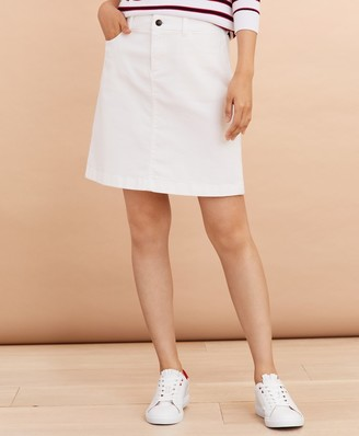 Brooks Brothers Stretch Denim A-Line Skirt