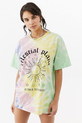 Urban Outfitters Celestial Tie-Dye Dad Tee