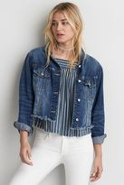 American Eagle Outfitters AE Fray Hem Denim Jacket