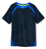 Lands' End Little Boys Printed Pieced Active Tee-Black Print
