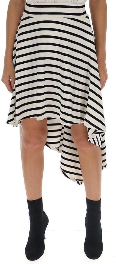 Sonia Rykiel Striped Asymmetric Skirt