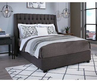 Darby Home Co Difranco Upholstered Low Profile Storage Platform Bed Size: Queen, Color: Gray, Number of Storage Drawers: 4