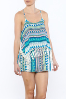 Olivaceous Tribal Print Romper