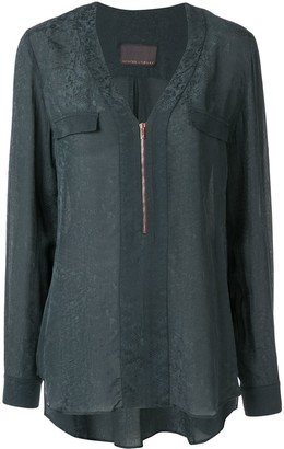 Ginger & Smart Panacea zip-up blouse