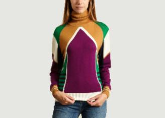 Le Mont St Michel Multicolour Merino Wool Colorblock Jacquard Soline Sweater - merino wool | small