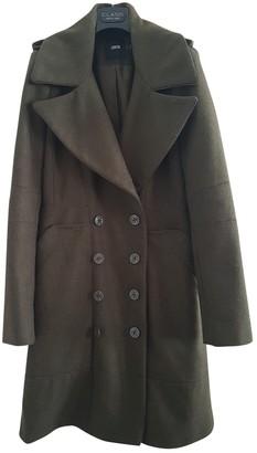 Asos Khaki Wool Coat for Women
