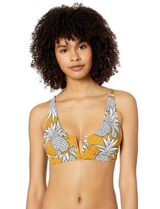 Rip Curl Junior's Lost in Love Deep V Tri Bikini Top Swim Suit