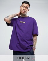 Sixth June Oversized T-shirt In Purple With Small Logo