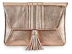GiGi New York Women's Ava Metallic Leather Clutch