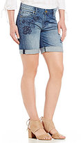 KUT from the Kloth Catherine Floral Embroidered Boyfriend Shorts