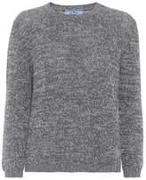 Prada Suede-trimmed cashmere sweater