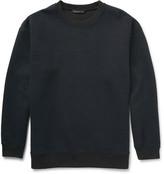 Embossed Tech-Jersey Crew Neck Sweatshirt