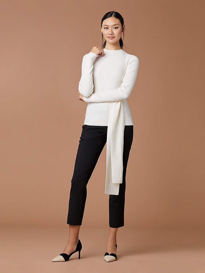 Devin Wool Wrap Pullover
