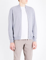 Brunello Cucinelli Zip-up cotton-blend bomber jacket