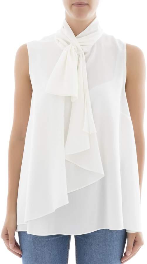Alexander McQueen White Silk Blouse
