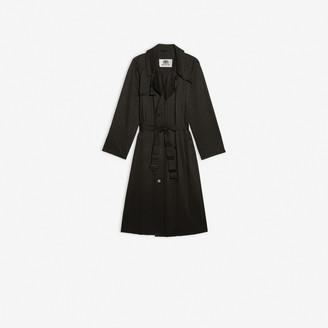 Balenciaga Trench-Coat Plisse