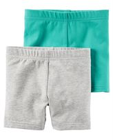 Carter's Toddler Girl 2-pk. Solid Biker Shorts