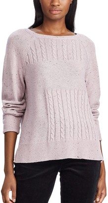 Chaps Women's Cable-Knit Crewneck Sweater