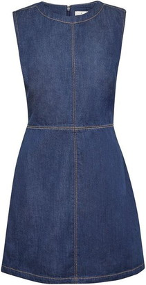 French Connection Linaire Contrast Stitch Pinafore Dress