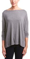 BCBGMAXAZRIA Women's Adira Oversized Long Sleeve Top