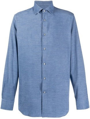 Paul & Shark Long Sleeved Chambray Shirt