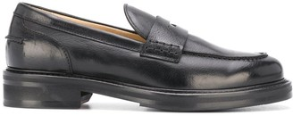 Doucal's Block Heel Penny Loafers