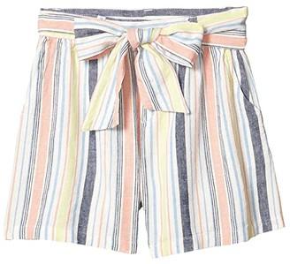 Habitual Ellie Front Bow Shorts (Big Kids) (Stripe) Girl's Shorts