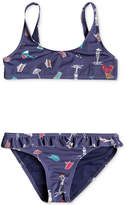 Roxy 2-Pc. Printed Bikini Swimsuit, Toddler Girls