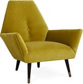 Jonathan Adler Sorrento Chair in Venice Pear Velvet