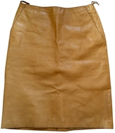 Miu Miu Leather mid-length skirt