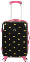 Travelers Club Polka-Dot 20-Inch Hardside Spinner Carry-On Luggage