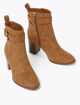 Marks and Spencer Buckle Block Heel Ankle Boots
