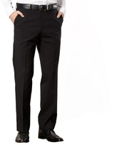 Jeff Banks Designer Black Wool Blend Trousers