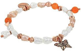 Alex and Ani Butterfly Beaded Charm Stretch Bracelet (Rose Gold) Bracelet