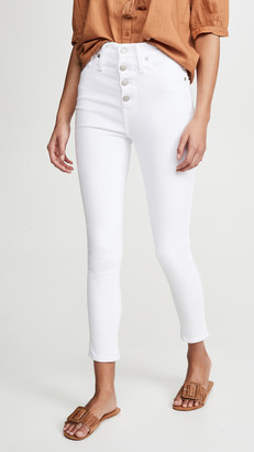 """Madewell 10"""" High Rise Button Front Skinny Jeans"""
