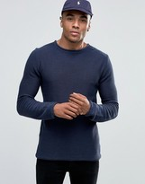 Solid Ribbed Knitted Jumper