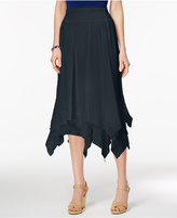 Style&Co. Style & Co Petite Handkerchief-Hem A-Line Skirt, Only at Macy's