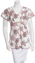 Piazza Sempione Floral Peplum Top w/ Tags