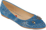 Hot Kiss Blue Bell Womens Ballet Flats
