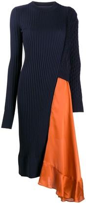 Sacai Knitted Asymmetric Hem Dress