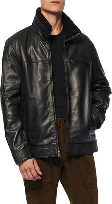Andrew Marc Lambskin Leather Jacket