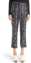 Proenza Schouler Women's Print Silk Twill Crop Pants