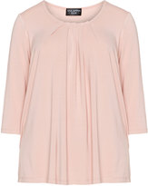 Via Appia Plus Size Pleated top