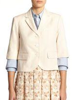 Michael Kors Canvas Cropped Jacket
