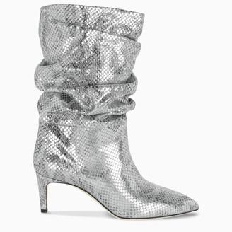 Paris Texas Silver snake print boots